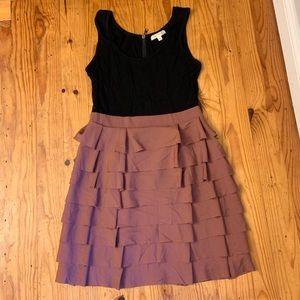 Soft jersey and ruffled dress